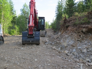 road building on private managed forest land